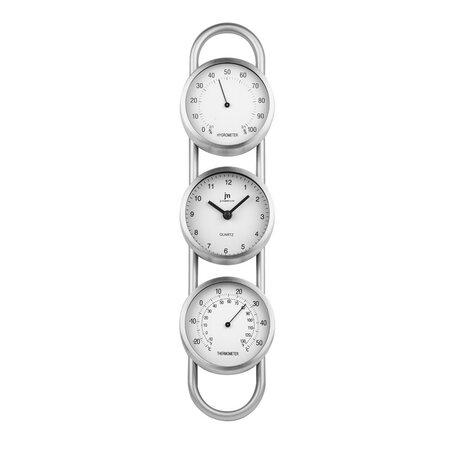 Lowell 14951 Nástěnné hodiny s teploměrem a vlhkoměrem, výška 38 cm