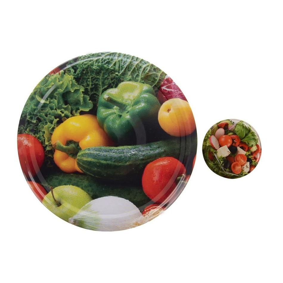 Orion 10-dielná sada viečok so závitom Zelenina, 8,5 cm