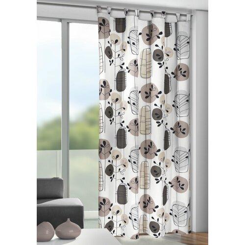 Bastian  függöny hurkokkal szürke, 135 x 245 cm