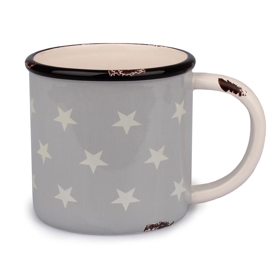 Dakls Keramický hrnek Hvězdy 400 ml, šedá