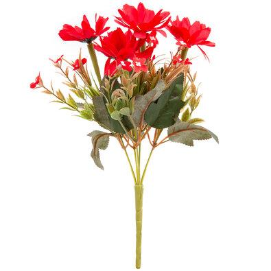 Umělá kytice Kapské kopretiny 20 x 30 cm, červená