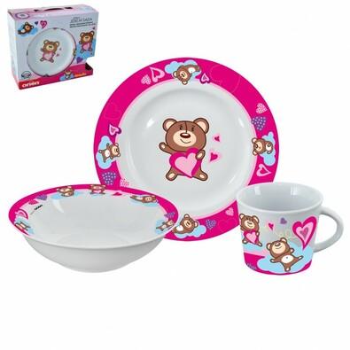 Orion 3dílná sada nádobí pro děti Medvídek