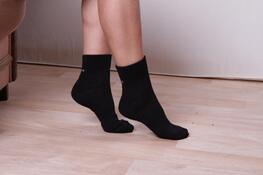 Ponožky sportovní, tmavě šedá, 26 - 28