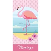 Gyerek törülköző Flamingó, 70 x 140 cm