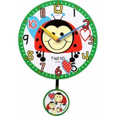 Twins 10411 beruška nástěnné hodiny dětské
