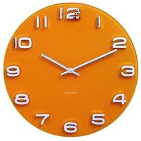 Karlsson 5640YE Designové nástěnné hodiny, 35 cm