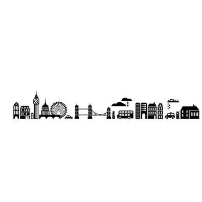 Samolepicí dekorace město