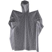 Pončo proti dažďu sivá, 132 x 101 cm