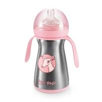 Tescoma PAPU PAPI hőtartó cumisüveg 200 ml, rózsaszín