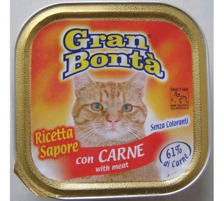 Paštika Gran Bonta s hovězím masem pro kočky, 100g