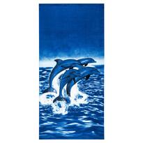 Plážová osuška Delfíny, 70 x 150 cm