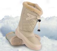 Nepromokavá zimní obuv, béžová, 38