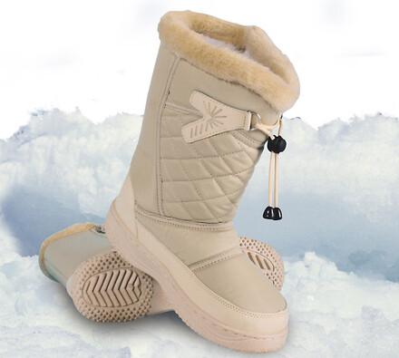 Nepromokavá zimní obuv, béžová, 35