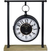Stołowy zegar metalowy Old Town, 27 x 31 cm