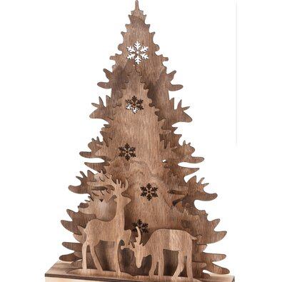 Karácsonyi karácsonyi fa dekoráció - Christmas tree with Reindeers, 38,5 cm