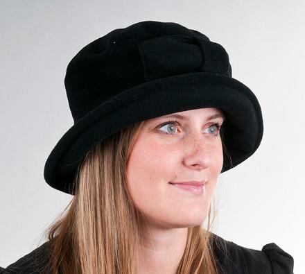 Dámský klobouk Karpet 3467, černý, 55 / 56