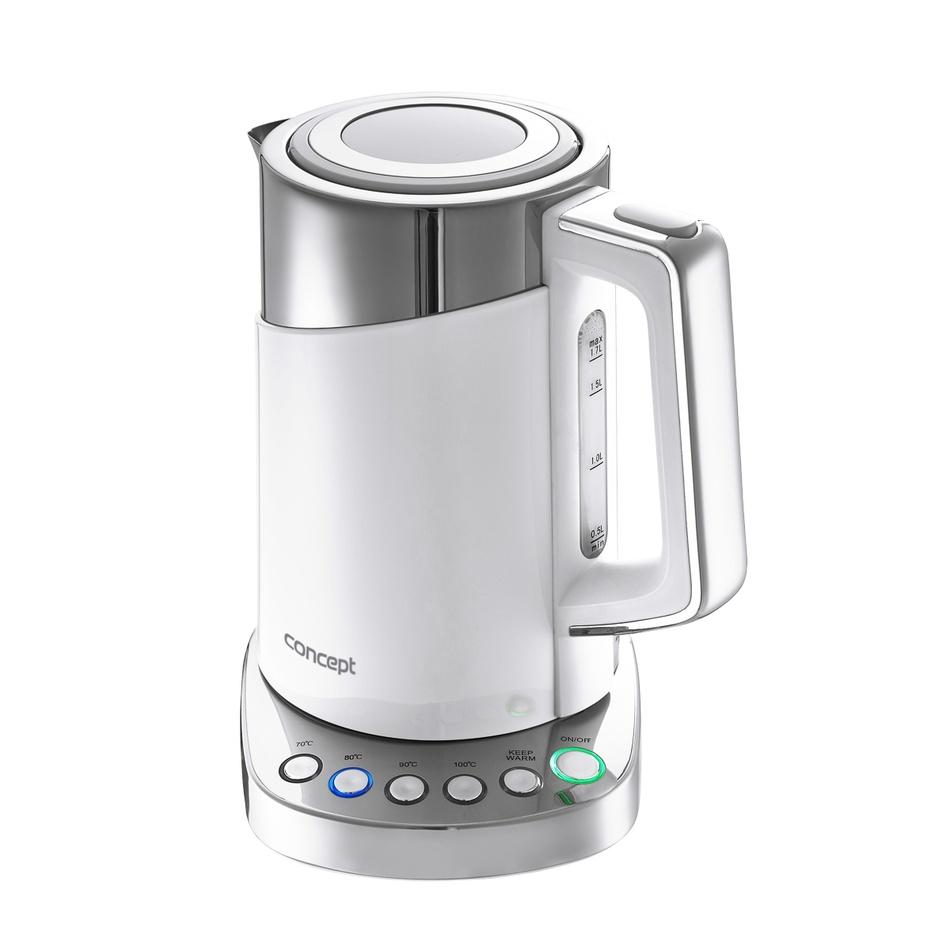 Produktové foto Concept RK3170 rychlovarná konvice s termoregulací Cool Touch 1,7 l, bílá