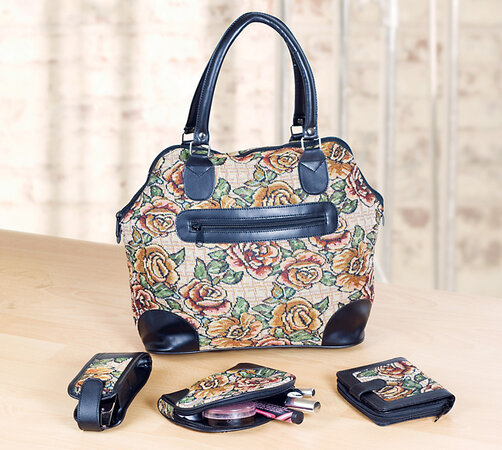 Dámska kabelka s doplnkami
