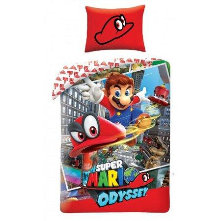 Lenjerie din bumbac Super Mario, 140 x 200 cm, 70 x 90 cm