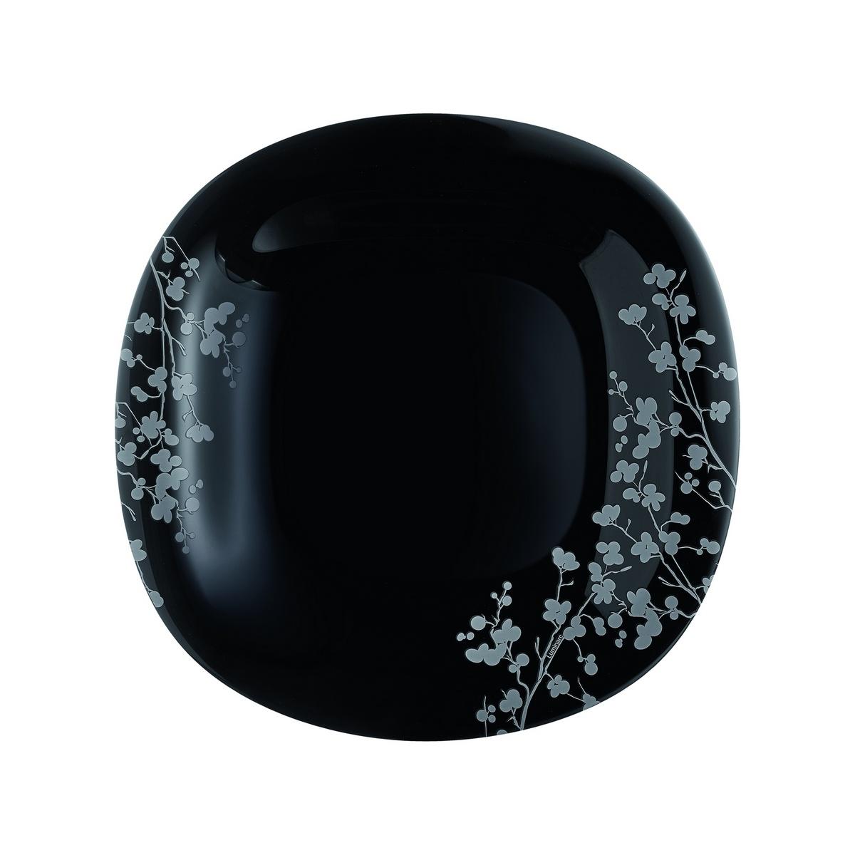 Luminarc Sada dezertních talířů Ombrelle 19 cm, 6 ks, černá