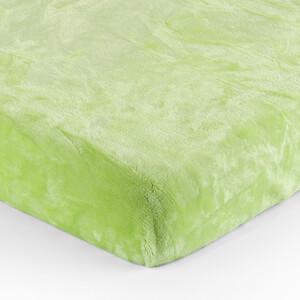 Jahu Prostěradlo Mikroplyš zelená, 90 x 200 cm, 90 x 200 cm