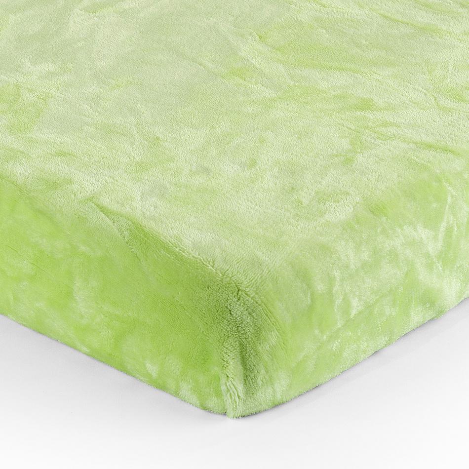 Jahu Prostěradlo Mikroplyš zelená, 90 x 200 cm