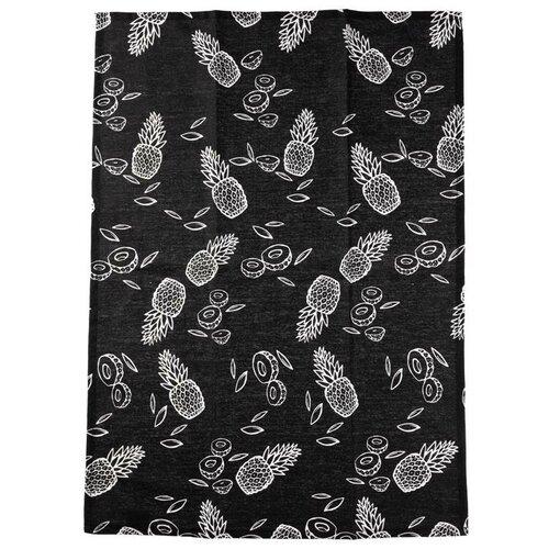 Florentyna Kuchyňská utěrka PINAPPLE černá, 50 x 70 cm