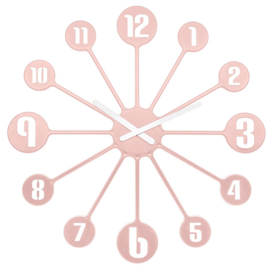 Koziol Nástěnné hodiny Pinball růžová, pr. 45 cm