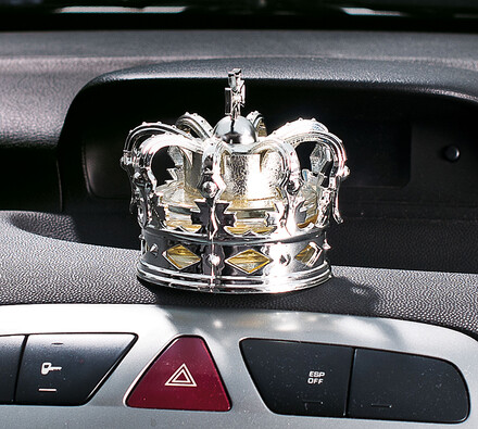 Osvěžovač vzduchu do auta, vanilka, stříbrná