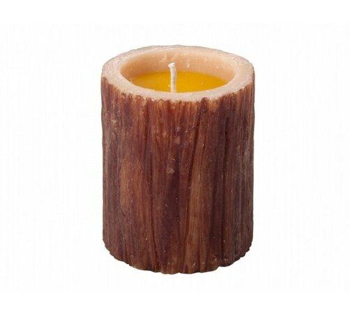 Repelentní svíčka, citronela, hnědá, 9 x 5 cm