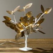 Svítící stromeček se zlatými lístky, 20 LED
