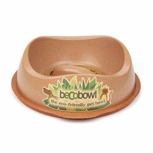 Fotografie BecoThings Slow Feed ekologická miska pro psa, hnědá