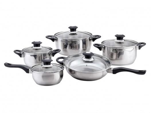 10dílná sada nerezového nádobí Magnis, stříbrná
