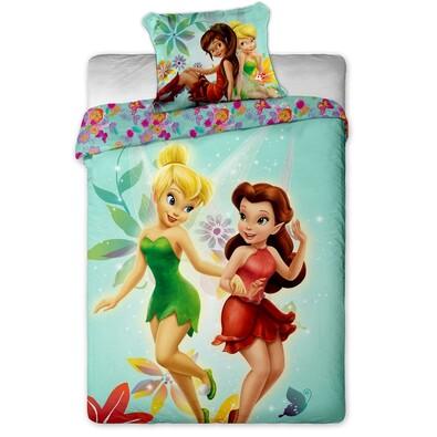 Dětské bavlněné povlečení Víla zvonilka Fairies, 140 x 200 cm, 70 x 90 cm