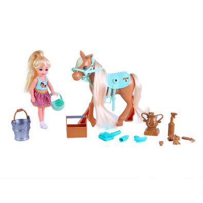 Rappa Česací kôň s bábikou a príslušenstvom