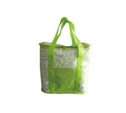 Chladící taška, bílá + zelená, 20 l, Vetro Plus, bílá + zelená, 34 x 34 cm