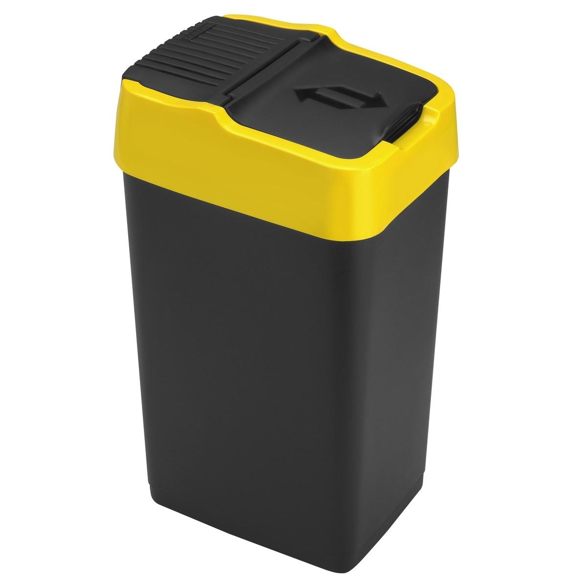 Heidrun Odpadkový kôš 18 l, so žltým pruhom