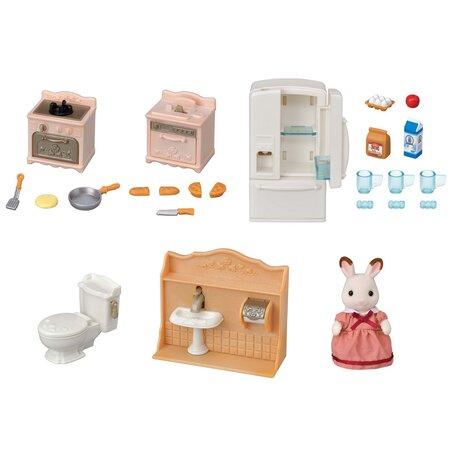Sylvanian families 5449 startovací set nábytku a Chocolate králík mamka