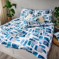 Abstract blue pamut ágynemű, 140 x 200 cm, 70 x 90 cm, 40 x 40 cm