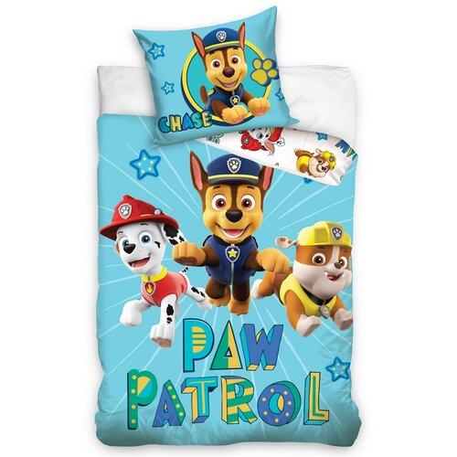 Dětské bavlněné povlečení do postýlky Tlapková Patrola Chase řádí, 100 x 135 cm, 40 x 60 cm