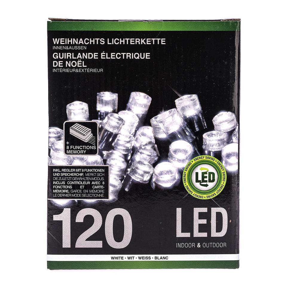 Vánoční světelný řetěz, bílá, 120 LED, 2200 cm