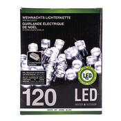 Vánoční světelný řetěz, bílá, 120 LED