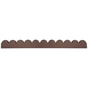 Zahradní gumový obrubník Scalloped, 1,2 m
