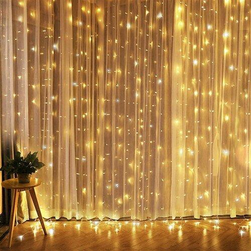 Solight Okenní vánoční závěs, 240 mini LED, 1,2 x 1,2 m, s časovačem