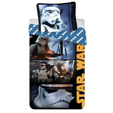 Bavlněné povlečení Star Wars Stormtroopers, 140 x 200 cm, 70 x 90 cm