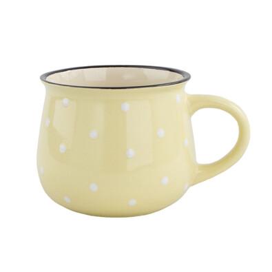 Keramický hrnček Dots 770 ml, žltá