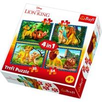 Trefl Puzzle Lví král, 4 ks