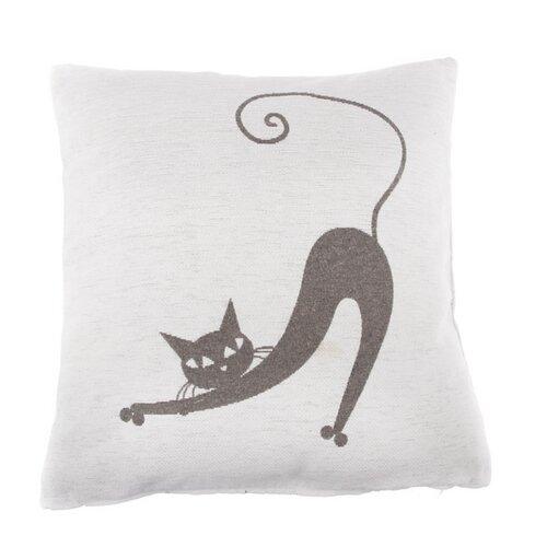 Povlak na polštářek Kočka bílá, 40 x 40 cm