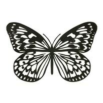Decorațiune metalică pentru perete Fluture, neagră
