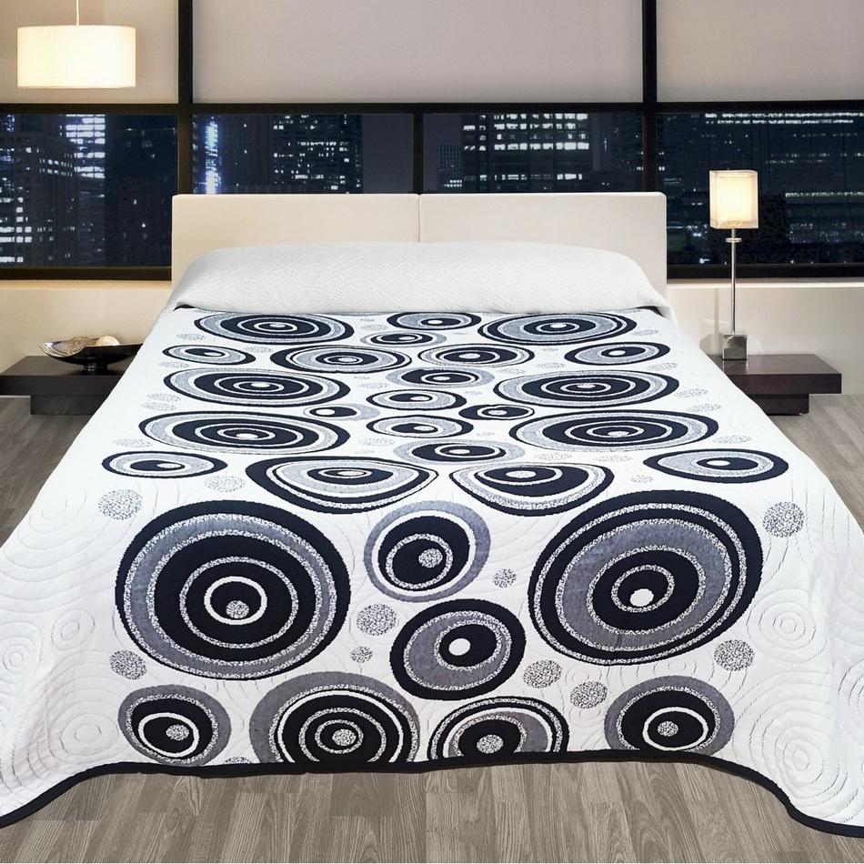 Forbyt Přehoz na postel Congo černá, 140 x 220 cm
